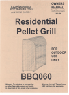 Traeger Bbq07c 03 Manuals And User Guides Grill Manuals